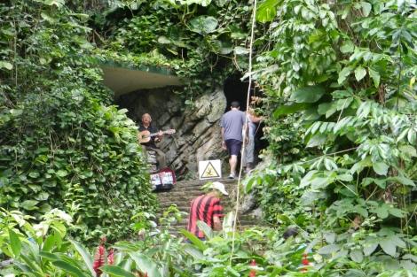 Cave's exterior
