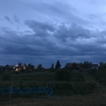 Last night view from vineyard